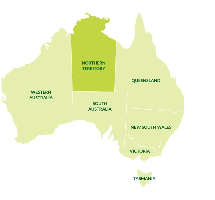Map Of South Australia And Northern Territory.Northern Territory Citrus Australia