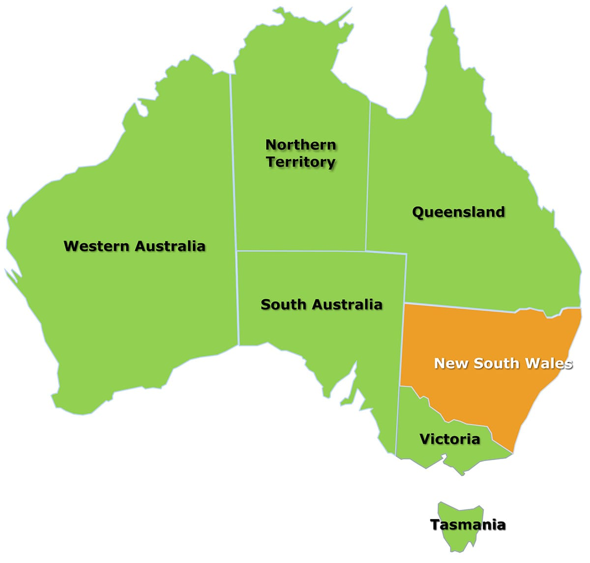 Map Of Australia New South Wales.New South Wales Map Citrus Australia