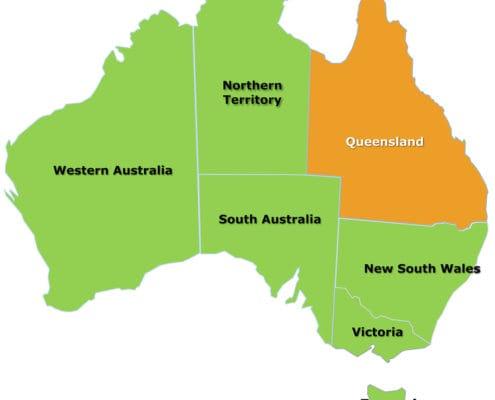 Queensland map