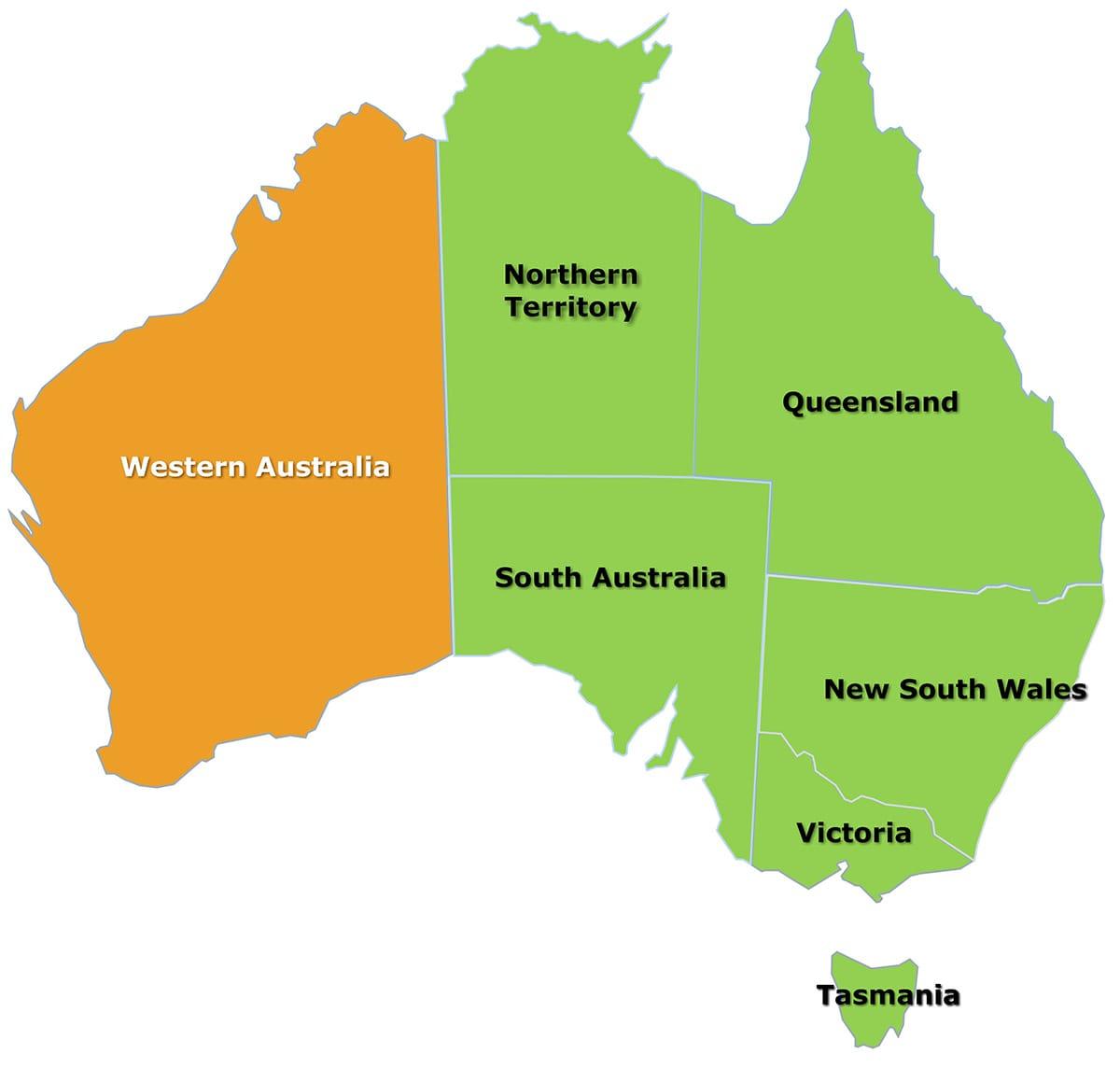 Australia Map Wa.Western Australia Map Citrus Australia